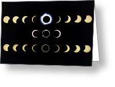 Composite Time-lapse Images Of Solar Eclipses Greeting Card