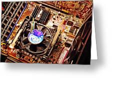 Computer Circuit Board Greeting Card