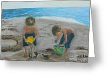 Cool Water Warm Sand Greeting Card