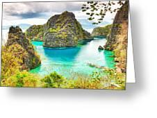 Coron Lagoon Greeting Card
