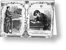 Correct Writing Position Greeting Card