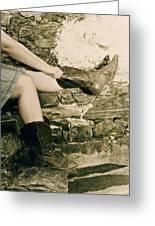 Cowboy Boots Greeting Card