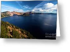 Crater Lake Blues Greeting Card