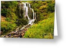 Crater Lake Falls Greeting Card
