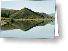 Cromwell Dam Reflections Greeting Card