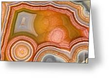 Cross-section Of Mexican Agate Greeting Card