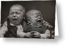 Cry Babies Greeting Card by Pat Abbott