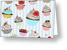 Cupcake  Greeting Card by Setsiri Silapasuwanchai