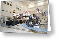 Curiosity Rover In The Testing Facility Greeting Card
