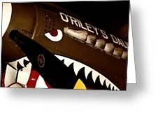 Curtiss P-40n Warhawk Greeting Card