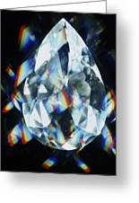 Cut And Polished Diamond Greeting Card