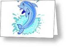 Darla The Dolphin Greeting Card by John Keaton