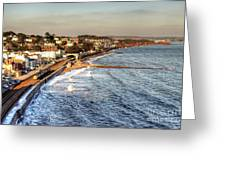 Dawlish Sea Wall Greeting Card
