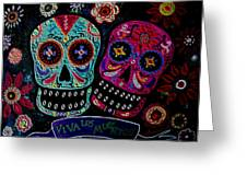 Day Of The Dead Couple Greeting Card
