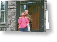 Deb And Phil Greeting Card