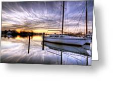 December Sunrise Greeting Card