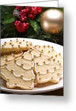 Decorated Cookies In Festive Setting Greeting Card