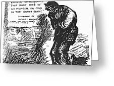 Depression Cartoon, 1932 Greeting Card