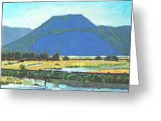 Derr Mountain Greeting Card by Robert Bissett