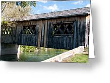 deShutes River Bridge Greeting Card
