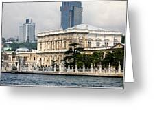 Dolmabahce Palace In Istanbul Greeting Card