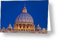 Dome San Pietro Greeting Card by Brian Jannsen