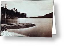Donner Lake - California - C 1865 Greeting Card