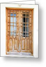 Doors In Greece Greeting Card