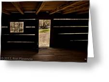 Doorway To The Past Greeting Card by Ron Plasencia