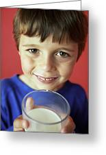 Drinking Milk Greeting Card