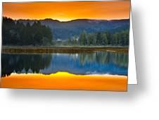 Dry Lagoon Dawn Greeting Card