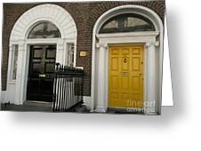 Dublin Doors Greeting Card
