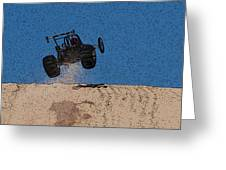 Dune Buggy Jump Greeting Card