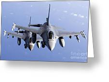 Dutch F-16ams During A Combat Air Greeting Card