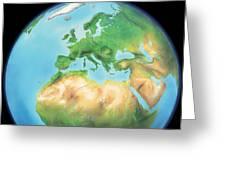 Earth, Artwork Greeting Card by Gary Hincks