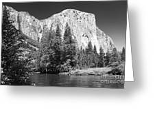 El Capitan And Merced River Greeting Card