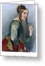 Eleanor Of Aquitaine Greeting Card