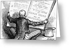 Election Cartoon, 1876 Greeting Card by Granger