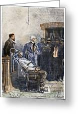 Electrocution, 1890 Greeting Card
