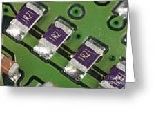 Electronics Board With Lead Solder Greeting Card