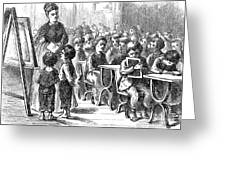 Elementary School, 1873 Greeting Card