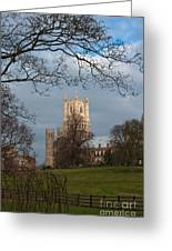 Ely Cathedral In City Of Ely Greeting Card