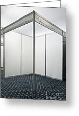 Empty Exhibition Booth Greeting Card by Jon Boyes