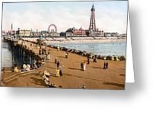 England: Blackpool, C1900 Greeting Card
