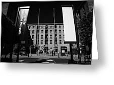 Entrance To The Albert Dock And Beatles Museum Liverpool Merseyside England Uk Greeting Card