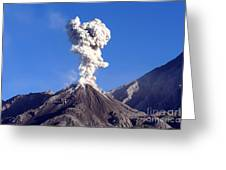 Eruption Of Ash Cloud From Santiaguito Greeting Card