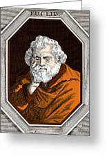 Euclid, Ancient Greek Mathematician Greeting Card