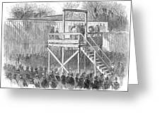 Execution Of Henry Wirz Greeting Card