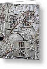 Exterior Views Of Paul Reveres House Greeting Card
