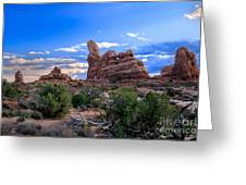 Eye View Of Arches Greeting Card
